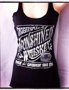 I love it!!    Triblend Racerback Tank Top Vintage Original Moonshiners Whiskey