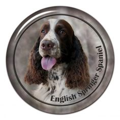 English springer spaniel 3D sticker - #englishspringerspaniel #englishspringer #springerspaniel