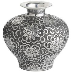 """Aluminum Scroll Vase - 14.5"""" - This is one of my favorite vases."""