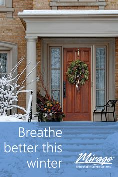 With the increased time spent indoors at home this year, working to be mindful of the air quality of your home can make a big difference in the enjoyment of your living space. Retractable Screens, Indoor Air Quality, Winter Season, Mindful, Improve Yourself, Living Spaces, Big, Outdoor Decor, Home Decor
