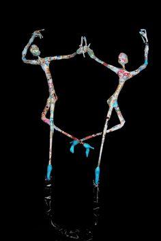 Daniela Scarel: Jean-François GLABIK * Metal sculptures and paper *