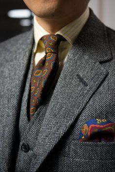 10 Patterns Every Gentleman Should Know About Mens Fashion Blog, Estilo Fashion, Suit Fashion, Look Fashion, Sharp Dressed Man, Well Dressed Men, Tweed Suits, Mens Suits, Harris Tweed Jacket
