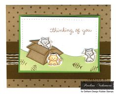 DeNami Thinking of You Cuddly Cats card