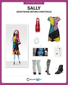 Step into Halloween Town as Sally, Dr. Finkelstein's creation, in the movie Tim Burton's The Nightmare Before Christmas