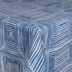 Brush Squares | Color: Blue - La Tavola Fine Linen