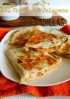 BBQ Chicken & Jalapeno Quesadillas