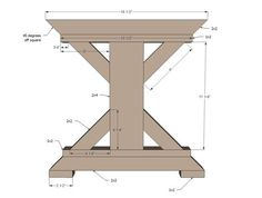 Ana White   Build a Fancy X Farmhouse Bench   Free and Easy DIY Project and Furniture Plans