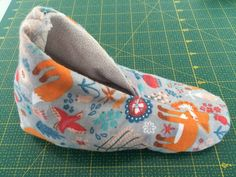 Sewing slippers tutorial