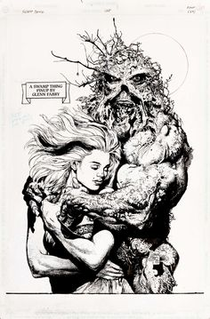 Swamp Thing and Abby by Glen Fabry
