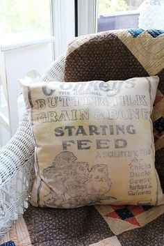 Would be cool to decorate with feed sacks.