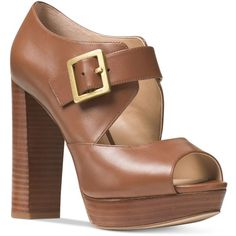 03ef5a1a0f1 Michael Kors-A smooth leather upper and towering stacked heel fuse to  fabulous effect on our Eleni sandals. Tempered by a platform, this style  speaks to a ...