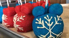 The Candy Cauldron at Disney Springs is overflowing with mouthwatering holiday treats - everything from Christmas stocking krispy treats to Santa Mickey apples and much more. Winter Treats, Holiday Treats, Disney Diy, Disney Food, Snowflake Ornaments, Snowflakes, Disney Parks Blog, Diy Tops, Disney Recipes