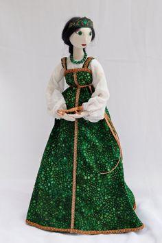 Mistress of the Copper Mountain textile art by Seaberrydollsetc