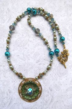 """""""A Taste of the Past"""" necklace & earrings  SOLD!"""