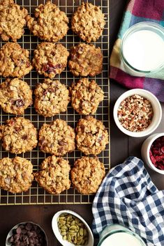 Weekday Cranberry Oatmeal Chocolate Chip Cookies With Pecans, Pumpkin Seeds & Spices Best Oatmeal Cookies, Raisin Cookies, Chocolate Chip Oatmeal, Chocolate Chip Cookies, Chocolate Chips, White Chocolate, Cookie Recipes, Dessert Recipes, Desserts