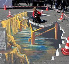 3D street art by Marion Ruthardt