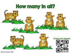 FREEBIE Count the wild animals and write the answer on the answer recording sheet.  Scan the QR code to check your answer.