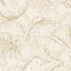 Gilded Feather Wallpaper in Cream and Gold by Julien MacDonald for... ($85) ❤ liked on Polyvore featuring home, home decor, wallpaper, wallpaper samples, inspirational home decor, gold home decor, gold home accessories, cream wallpaper and gold wallpaper