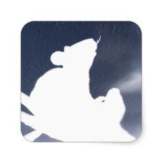 Shadow Rat Square Sticker