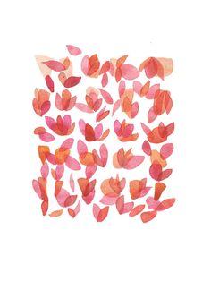 Original watercolor painting Rose red Flower by LouiseArtStudio, $90.00