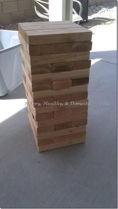 """Young Men/Young Women's Activity Idea: """"Watchmen On A Tower"""" (or Giant Jenga)"""