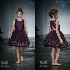 Loren Franco Designs Spring/Summer 2016 - tween girl plum dress