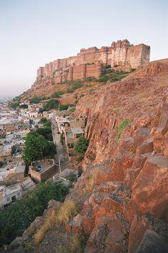 The Mehrangarh Fort in Jodhpur, Rajasthan_ India