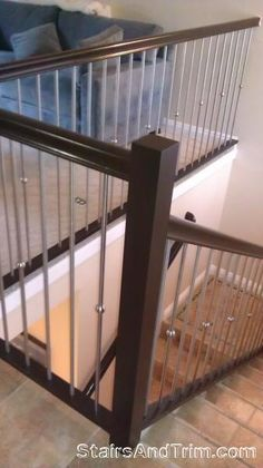 Stairs   Modern Balusters (donu0027t Like Silver Trim Though)