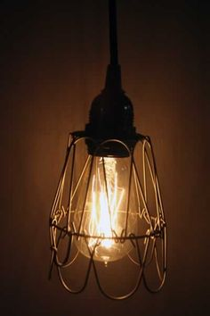Industrial Metal Wire Lamp Cage Shade