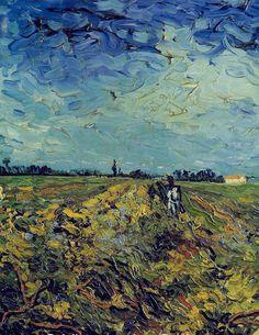 The Green Vineyard (Detail) - Vincent van Gogh 1888 Dutch 1853-1890 Post-impressionism Rijksmuseum Kröller-Müller, Otterlo, Netherlands