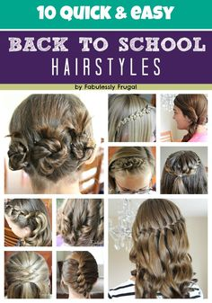 10 easy Back to School Hairstyles #hair #backtoschool .....