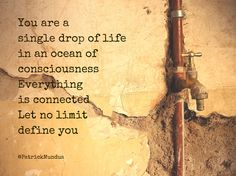 You are a single drop of life in an ocean of ​​#consciousness. Everything is connected. Let no limit define you...