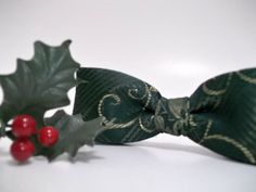 Holiday Bow Tie for Men or Boys  Pretied Bow Tie  ClipOn by ClassA, $19.00