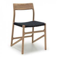Fawn Dining Chair Oak & Black Webbing 2