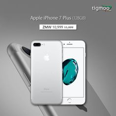 #AppleiPhone #7Plus 128 GB in shiny silver colour is available at #tigmoo, prices slashed from ZMW 11999 to ZMW 10999.  Order now for a #fastdelivery & earn 2200 points on the purchase: https://www.tigmoo.com/apple-iphone-7-plus-128-gb-silver.html