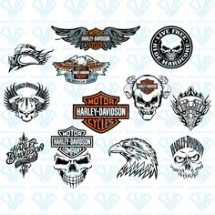 Harley Davidson Decals, Harley Davidson Tattoos, Harley Davidson Wallpaper, Marine Corps Emblem, Motor Harley Davidson Cycles, Disney Vacation Shirts, Vinyl Quotes, Cricut Vinyl, Disney Family