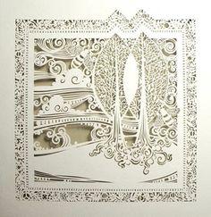 Delicate papercut by Sara Burgess.