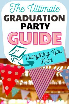 It can seem a little overwhelming to plan your child's graduation party. That's why you need these Graduation Party Ideas: The Ultimate Guide! The end of their senior year is filled with so many activities...and it's very emotional and overwhelming to think they are all grown up and heading off to college in a few short months. Start with the perfect way to plan and keep you on track with this Graduation Party Checklist. #graduationparty #gradparty #graduationpartyideas #highschoolgraduation… Graduation Party Desserts, Diy Graduation Gifts, Outdoor Graduation Parties, Graduation Party Planning, Grad Parties, Graduation Decorations, Graduation Ideas, Kids Party Themes, Party Ideas
