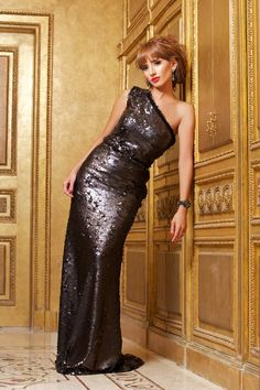 """Egyptian actress Zeina wearing a dress from my F/W 2010/2011 """"Femme Royale"""" Collection.."""
