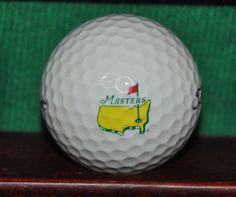 The Masters Golf Tournament Augusta National logo golf ball. Titleist Golf  Tips For Beginners 8cda0468ce668