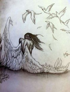 """pencil drawings of angels and demons. >>> Learn even more at the photo link >> Learn even more at the photo link""""> pencil drawings of angels and demons. >>> Learn even more a Art Drawings Sketches, Easy Drawings, Disney Drawings, Broken Drawings, Angel Drawing, Angel Sketch, Deep Drawing, Wings Drawing, Angels And Demons"""