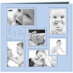 Pioneer Sewn Embossed Collage Frame Post Bound Album 12inX12inBaby