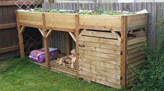 DiY log store/coal bunker/herb garden