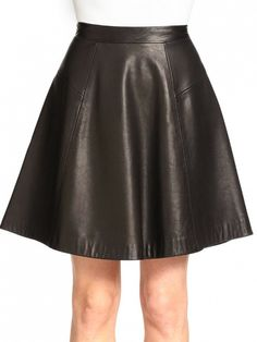 Leather is an option favorite for the weekend and now can be a favorite option for work too. // Gayle Leather Skirt by Rag and Bone