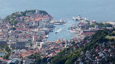 MELLOM DE SYV FJELL: Boligprisveksten i Norges nest største by falt med dobbelt så mye som i Oslo i desember.