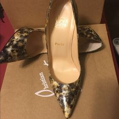 76409af25f6 So Kate 120 Vernis Mouchete EU US Brand new in the box Christian Louboutin  120 pump so Kate vernis. Those shoe run half size to a whole size smaller.