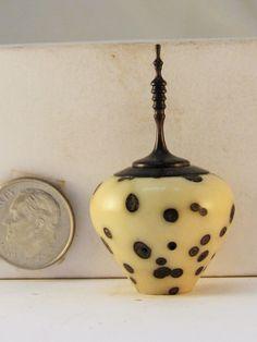 HW Miniature Turning Raphia Palm Nut Lidded Hollow Vase | eBay