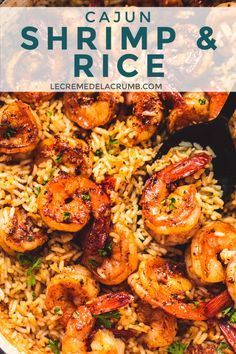 cajun cooking This Cajun Shrimp and Rice Skillet is a one-pot wonder full of flavorful shrimp and rice with a Cajun seasoning that the entire family will enjoy! Shrimp Recipes For Dinner, Shrimp Recipes Easy, Seafood Dinner, Cajun Recipes, Fish Recipes, Easy Dinner Recipes, Easy Meals, Shrimp Rice Recipe Easy, Grilled Shrimp Recipes