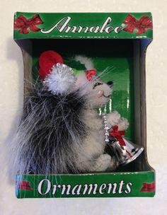 New Annalee Doll Silver Sparkle Squirrel Ornament Annalee Christmas Ornament #Annalee #ChristmasOrnment