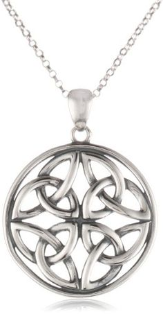 "Sterling Silver Celtic Knot Round Pendant Necklace, 18"" Amazon Curated Collection,http://www.amazon.com/dp/B0028K3CRI/ref=cm_sw_r_pi_dp_myDCtb0WQE4D6YWQ"